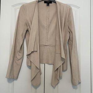 Forever 21 Suede Front Drape Blazer Jacket